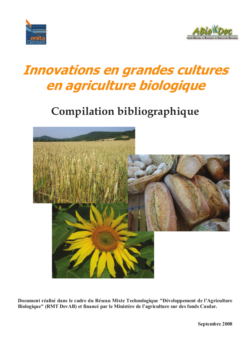 Innovations en grandes cultures en agriculture biologique